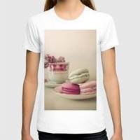 macaroons T-shirts featuring Lilac and Macaroons by Olivia Joy StClaire