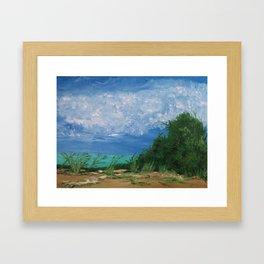 By the Shoreline Framed Art Print