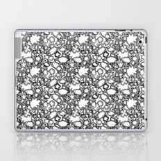 Lila's Flowers Repeat Black and White Laptop & iPad Skin