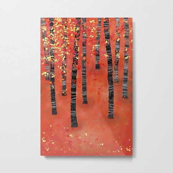 Birches Metal Print