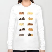 pigs Long Sleeve T-shirts featuring Guinea pigs by stephasocks