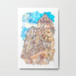 Paris Panorama Metal Print