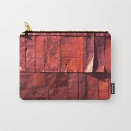 Industrial Urban Weathered Crimson-Red Tobacco Tin Wall Carry-All Pouch