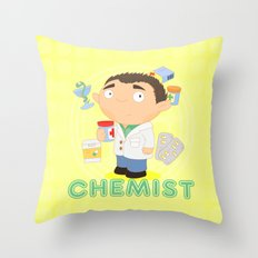 CHEMIST Throw Pillow