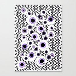 Peekaboo - Purple Canvas Print