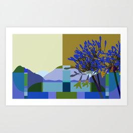 African Lily of the Nile Art Print