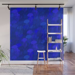 Jellyfish-BLUE Wall Mural