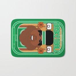 Basketball Green - Court Dunkdribbler - Hayes version Bath Mat
