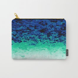 Teal Ombre Crystals Carry-All Pouch