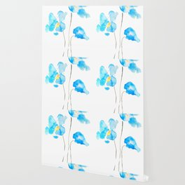 abstract Himalayan poppy flower watercolor Wallpaper
