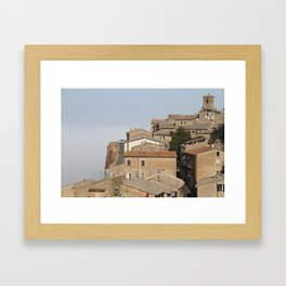 Village in the clouds Framed Art Print