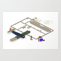 airplane model Art Print