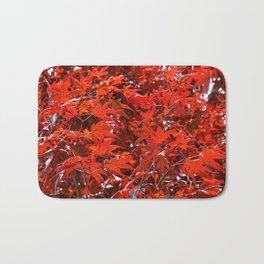 Japanese Red Maple Leaves Bath Mat