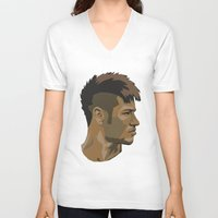 neymar V-neck T-shirts featuring Neymar by The World Cup Draw