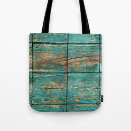 Rustic Teal Boards (Color) Tote Bag