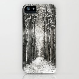 Infrared and symmetry iPhone Case