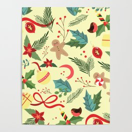 Christmas Pattern 4 Poster