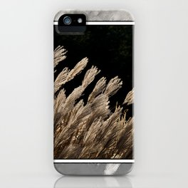 YAKU JIMA GRASS IN BACKLIT SUN iPhone Case