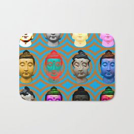 Buddha Heads Bath Mat