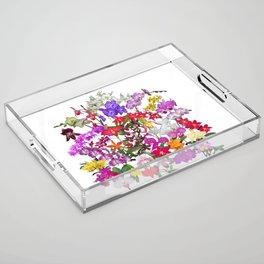 A celebration of orchids Acrylic Tray