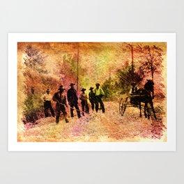 The road gang Art Print
