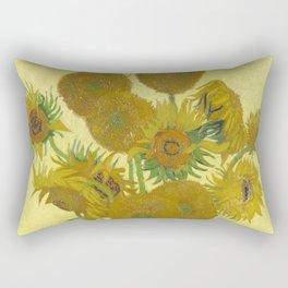 Sunflowers by Vincent van Gogh Rectangular Pillow