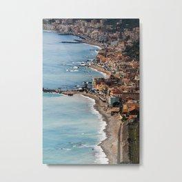 Italy Coast Line Metal Print