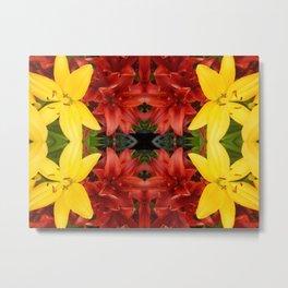 """A Gathering of Lilies"" Remix - 3 (1-1) [D4468~49] Metal Print"