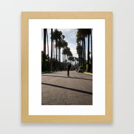 Beverly Hills Skateboarding Framed Art Print