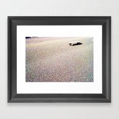 board on the sun Framed Art Print