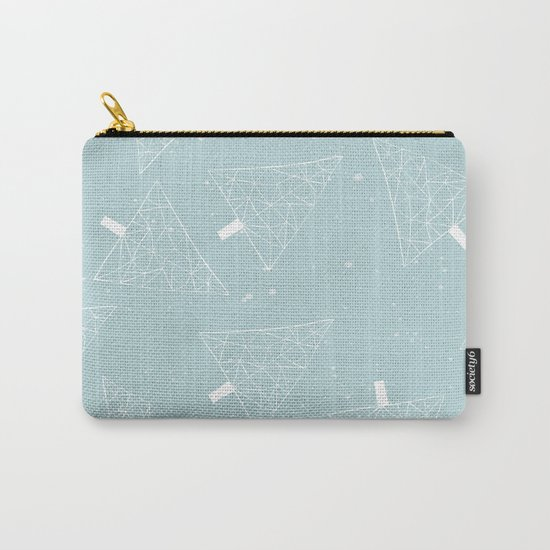 Christmas Trees Light Blue Carry-All Pouch