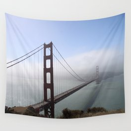 Golden Gate Bridge On A Foggy Morning Wall Tapestry