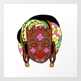 Madagascar Mask Art Print