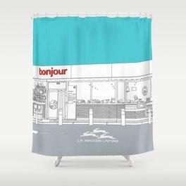 Bonjour! Shower Curtain