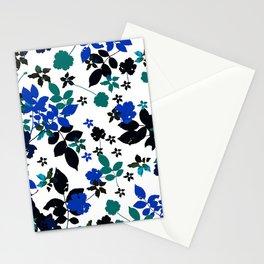 cobalt leaves Stationery Cards