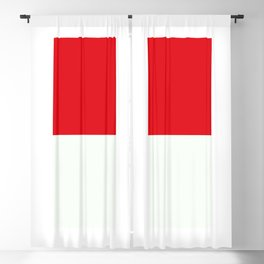 Two nearly perfect Squares - RED/White Blackout Curtain