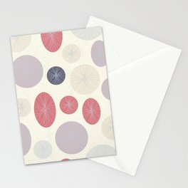 Circles, Ovals and Lines Light Stationery Cards