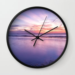 Seascape Sunset Wall Clock