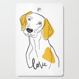Dog Modern Line Art Cutting Board