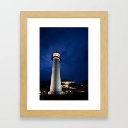 Biloxi Lighthouse and Visitors Center Framed Art Print