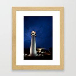 Biloxi Lighthouse and Visitors Center Framed Art Print