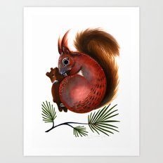 TinTin The Red Squirrel Art Print