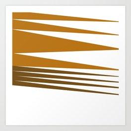 Zigzag ethno Lines -- chocos Art Print