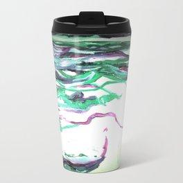 Abstract Waterfall Acrylic Painting Travel Mug