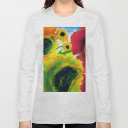 Red and Mexican Sunflowers still life painting by Emil Nolde Long Sleeve T-shirt