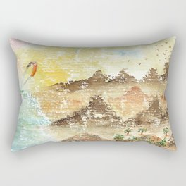 Landscape Nature Watercolor Art Rectangular Pillow