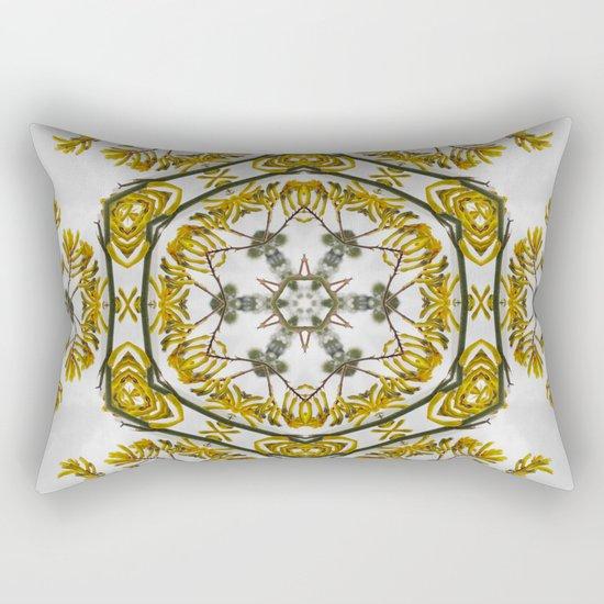 Striking kangaroo paw kaleidoscope Rectangular Pillow