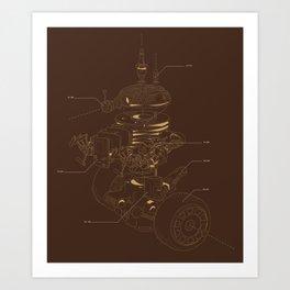 Recycling Robot Art Print