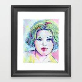 Neon Drew Framed Art Print