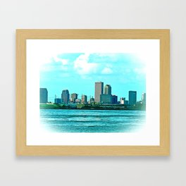 New Orleans Skyline (video game graphic style) Framed Art Print